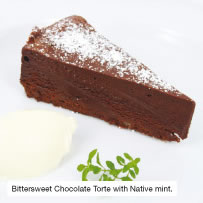 Bittersweet Chocolate Torte with Native mint